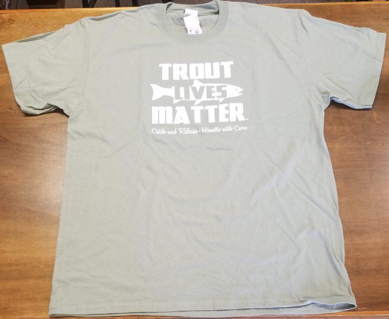trout lives matter t Khaki