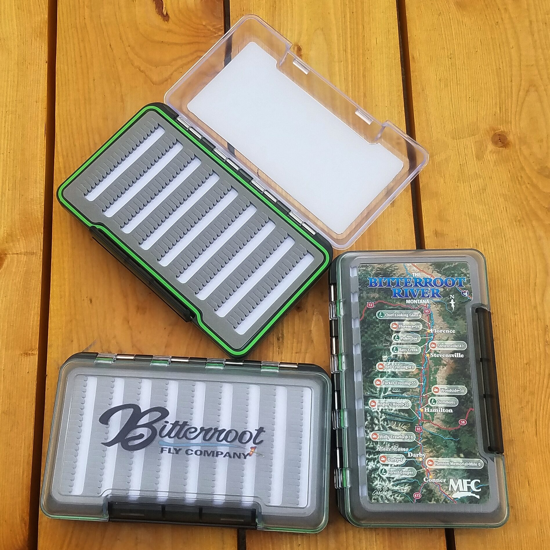 BFC Logo Water Proof Fly Box with Bitterroot River Map